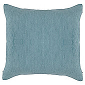 Tesco Cushions Plain Chenille Cushion, Duck Egg
