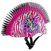 Raskullz Pink Zebra Mohawk Safety Helmet