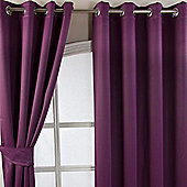Homescapes Aubergine Herringbone Chevron Blackout Curtains Eyelet Style, 66x54""