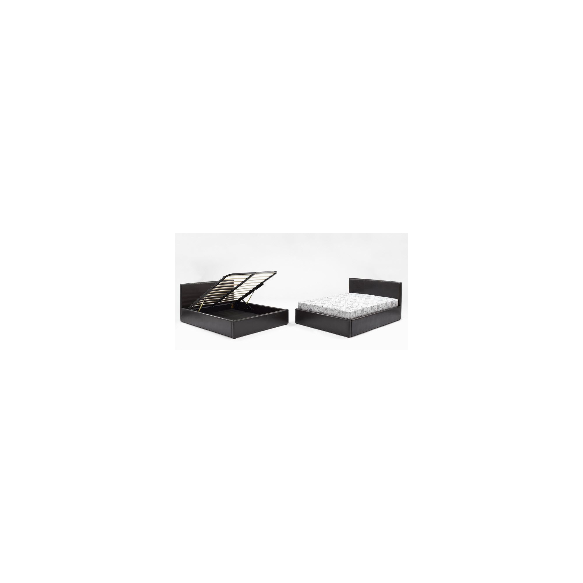 Interiors 2 suit Milan Storage Bedframe - Black - Small Double at Tesco Direct