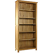 Kelburn Furniture Essentials Tall Bookcase in Light Oak Stain and Satin Lacquer