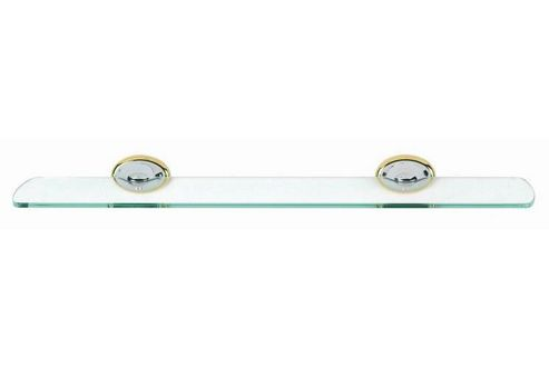 Sabichi Atlantis Chrome and Gold Glass Shelf