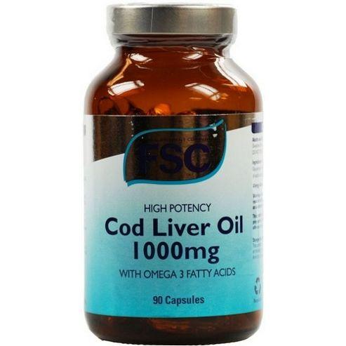 Fsc High Potency Cod Liver Oil 1000Mg 90 Capsules