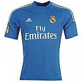 2013-14 Real Madrid Adidas Away Football Shirt - Blue