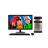 Viglen Contender 23.6-inch Monitor & Desktop Bundle with Core i3, Windows 10, 8GB RAM, 1TB - Black