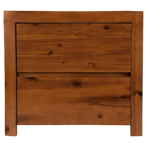 Anisha 2 Drawer Bedside Table, Solid Wood