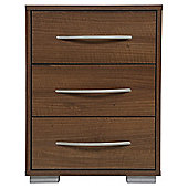 Newport 3 Drawer Bedside Walnut