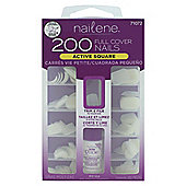 Nailene 200 Artificial Nails - Plain, Active length, Square 71072