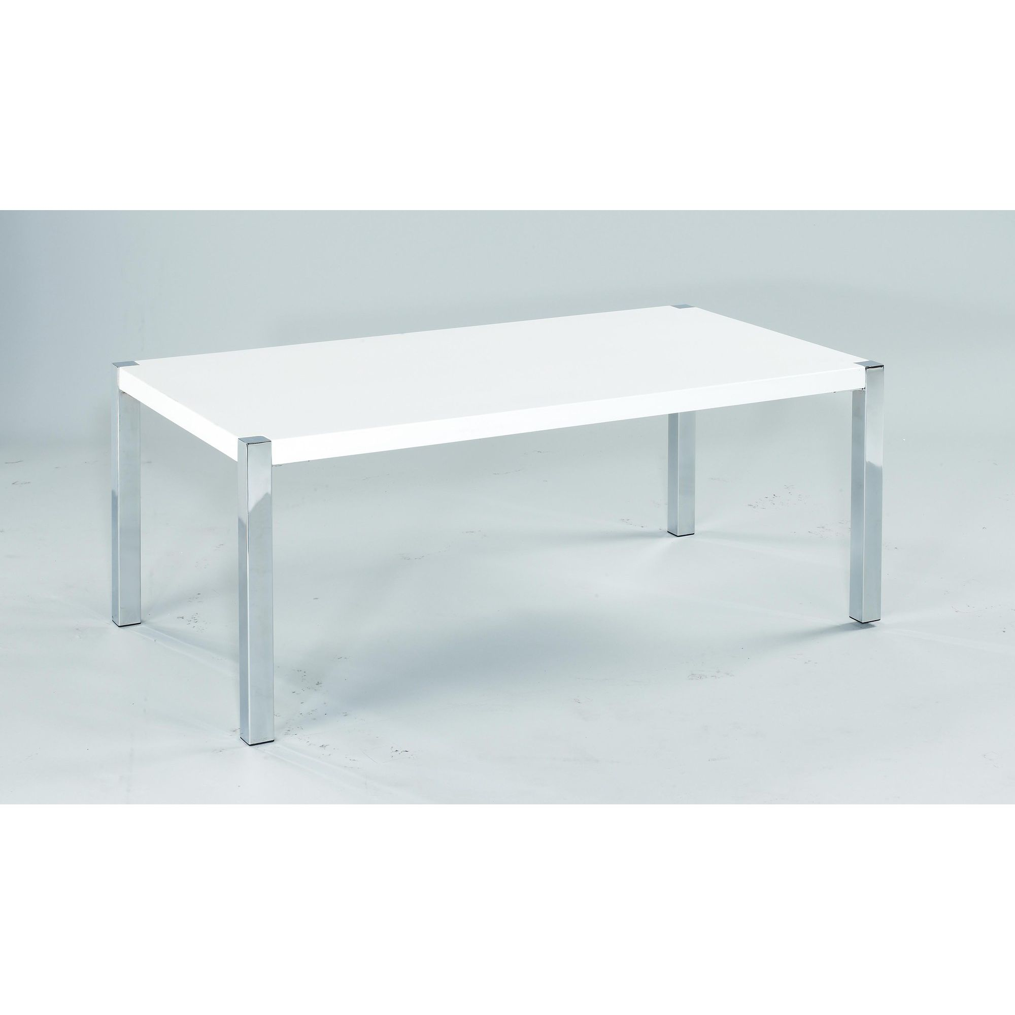 Home Zone Ivor Occasional Coffee Table in White - White