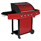 Tesco Red Premium 4 burner gas BBQ with side burner