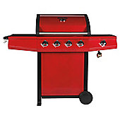 Tesco Red Premium 4 Burner Gas BBQ + Side Burner