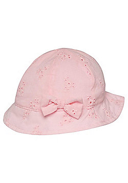 F&F Broderie Anglaise Hat - Pink