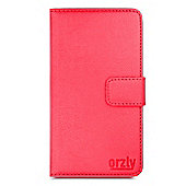 Orzly MultiFunctional Wallet Case for Moto G (Gen 2) 2014 - Red