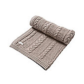 Mamas & Papas - Millie & Boris - Small Knitted Cable Blanket
