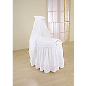Leipold Romantic Full Length Drape Crib in Pink