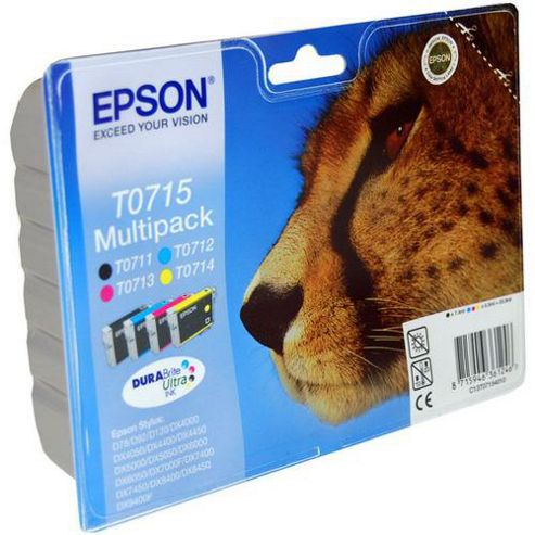 Epson 23.9 ml Original Ink Cartridges for Epson Stylus SX510W Printer (Pack 4) - Cyan/Yellow/Magenta/Black