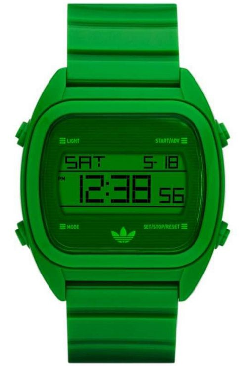 Adidas Gents Green Digital Resin Strap Watch ADH2730