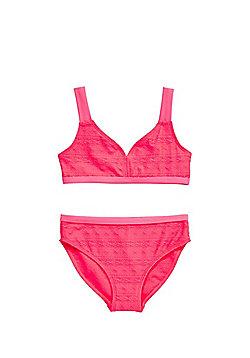 F&F Aztec Texture Bikini Set - Pink