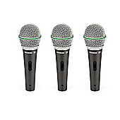 Samson Dynamic Microphone 3 Pack