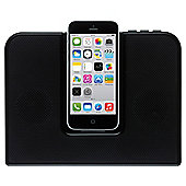 Kitsound Impulse portable Speakerdock, Black, iPhone 5/5s/6/6 Plus