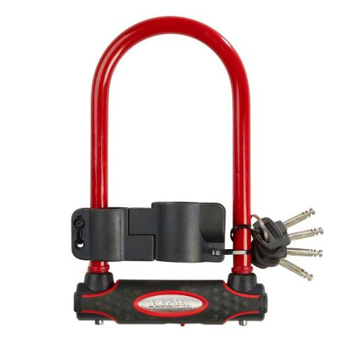 Master Lock Street Fortum Gold Sold Secure D-Lock 210x110mm - Red
