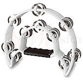 Stagg White Cutaway Plastic Tambourine
