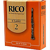 Rico 2 Bb Clarinet Reed (x10)