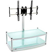 New Atacama Cantilever 2 Shelf TV Stand - White