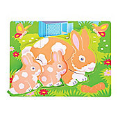 Bigjigs Toys BB012 Chunky Puzzle Rabbit and Kitten