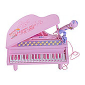 HOMCOM 32 Keys Electronic Keyboard Musical Instrument Toy Mini Table Top Piano w/ Stool Microphone
