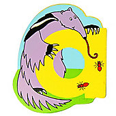 Bigjigs Toys BJL101 Wooden Magnetic Animal Letter Lowercase A (Designs Vary)