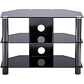 Alphason Essential, 3 Shelf Black Tv Stand For Tv's Up To 26""