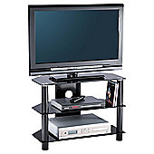 Alphason Essential, 3 Shelf Black Tv Stand For Tv's Up To 32