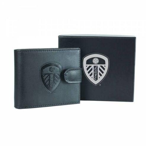 Leeds FC Black Leather Wallet