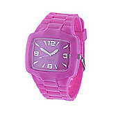 Urban Male Men's Pink Rubber Wrist Watch Quartz Movement in pink