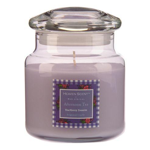 Heaven Scent Afternoon Tea Candle Jar Medium Blackberry Preserve