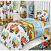 Under Construction, Boys Colourful Junior Bedding Set