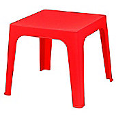 Resol Childrens Julieta Table. Indoor / Outdoor High Quality Kids Table - Red