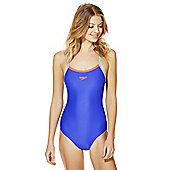 Speedo Endurance®10 Contrast Trim Muscle Back Swimsuit - Blue