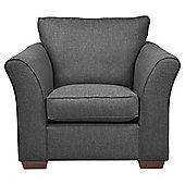 Windsor Armchair Textured Weave Charcoal