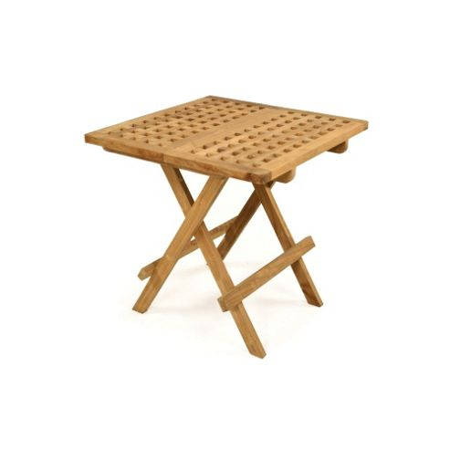BrackenStyle Oscar Folding Teak Coffee Table - Brown