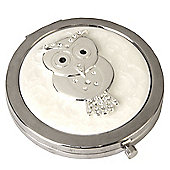 Crystal Owl Compact Mirror