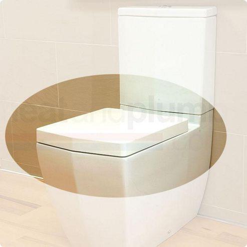 RAK Credenza Wrap Over Plastic Toilet Seat with Soft Close Hinge