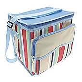 Country Club Large Cooler Bag, Cream & Blue Multi Stripe
