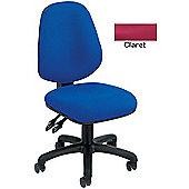 Arista Concept High Back Permanent Contact Operators Chair Claret KF03458