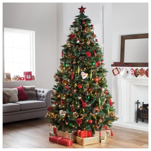 buy festive 8ft glisten pine christmas tree from our. Black Bedroom Furniture Sets. Home Design Ideas