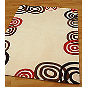 Origin Red Sphere Cream / Chocolate Rug - 170cm x 120cm