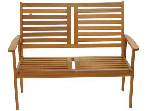 Napoli Wooden Garden Bench, Acacia, 2 seater