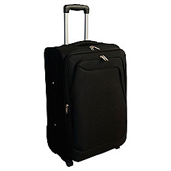 Tesco Soft Sided 2-Wheel Suitcase, Black Small