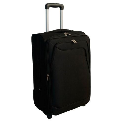 buy tesco 2 wheel soft sided suitcase black small from. Black Bedroom Furniture Sets. Home Design Ideas